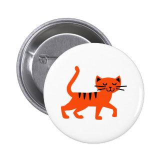 Gato cómico chapa redonda 5 cm