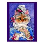 Gato como reina Marie Antonieta Tarjeta Postal