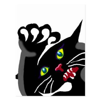 gato con actitud tarjetas postales