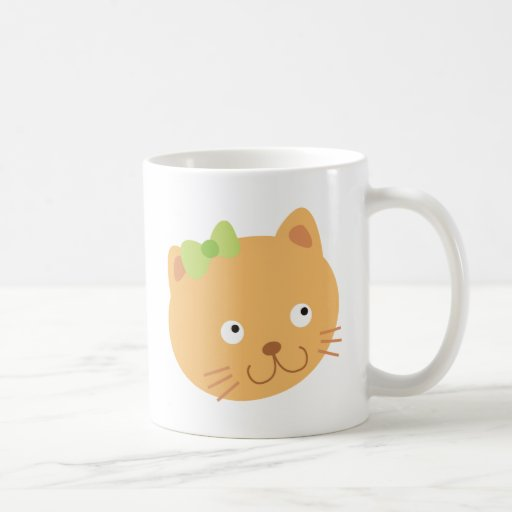 Gato con el arco verde taza