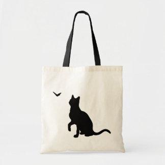 Gato con el bolso de la mariposa bolsa de mano