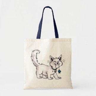 Gato con el bolso del ratón del juguete bolsa tela barata