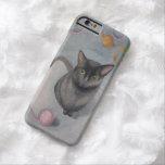 Gato con el caso del iPhone 6 del ejemplo del Funda De iPhone 6 Barely There