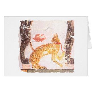 gato con el cuello tarjeta de felicitación