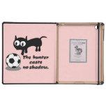 Gato con fútbol iPad protectores