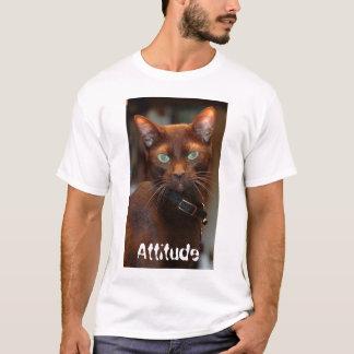 Gato con la actitud T Playera