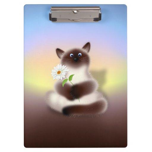 Gato con la flor