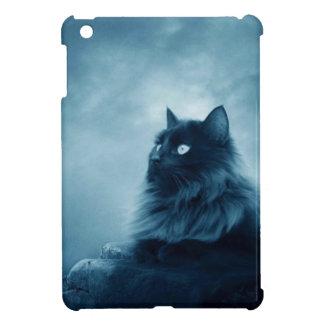 Gato con los ojos que brillan intensamente iPad mini protectores