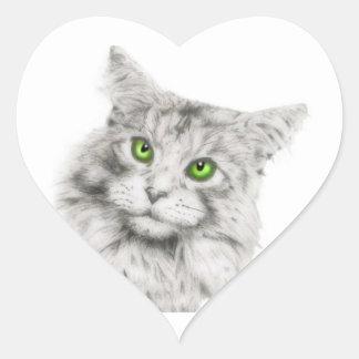 Gato con los ojos verdes etiquetas