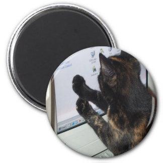 Gato con PC Imán Redondo 5 Cm