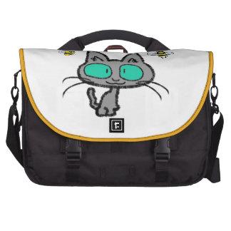 Gato con sus amigos de la abeja bolsa para ordenador