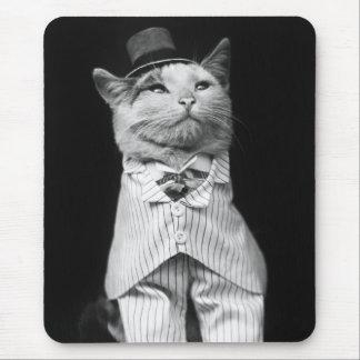 Gato con un gorra 1906 alfombrilla de ratones