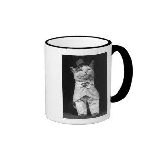 Gato con un gorra 1906 taza
