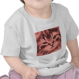 gato con una actitud camiseta