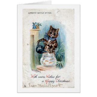 Gato con una caldera, Louis Wain Tarjeta De Felicitación