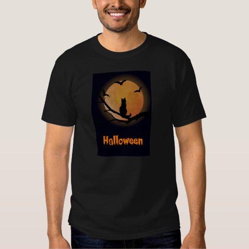 Gato con una camiseta de Halloween de la Luna Remera