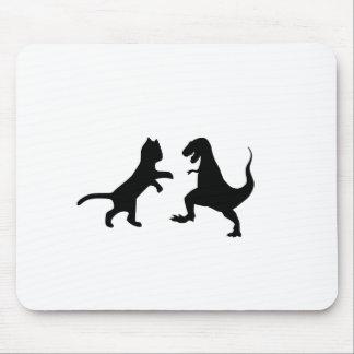 gato contra t-rex mousepad