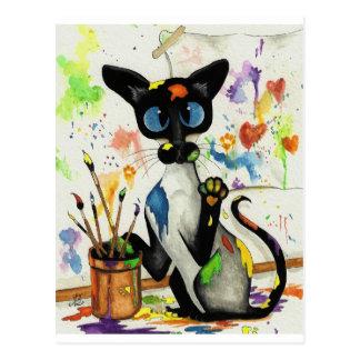 Gato creativo del gatito postales