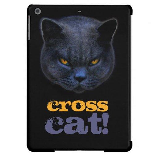 Gato cruzado divertido funda para iPad air