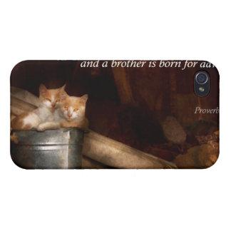 - Gato - cubo inspirado de diversión iPhone 4 Protectores