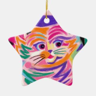 Gato curioso 80s de Cheshire retro Ornamento Para Reyes Magos