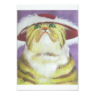 "gato cursi invitación 5"" x 7"""
