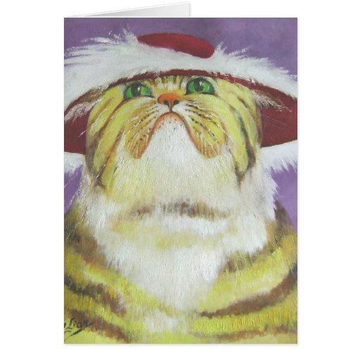 gato cursi tarjeta