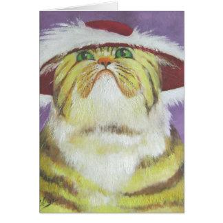 gato cursi tarjeta de felicitación