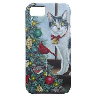 Gato de 0417 navidad funda para iPhone SE/5/5s