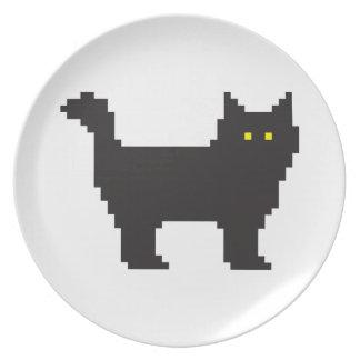gato de 8 bits plato para fiesta