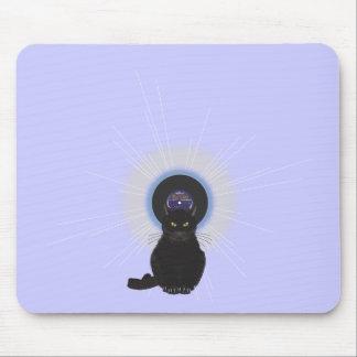 Gato de azules alfombrillas de ratón