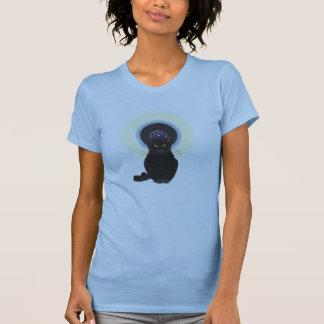 Gato de azules camisetas