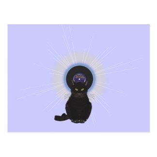 Gato de azules postal