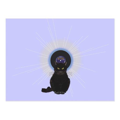 Gato de azules tarjeta postal