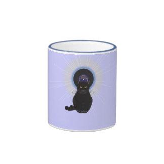 Gato de azules taza