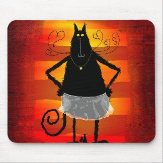 Gato de bailarina alfombrillas de raton