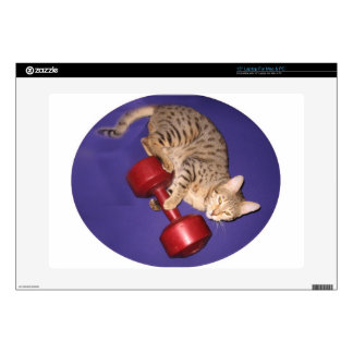 Gato de Bengala con pesa de gimnasia Portátil Calcomanía