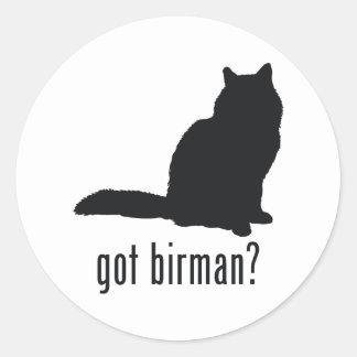 Gato de Birman Pegatinas Redondas