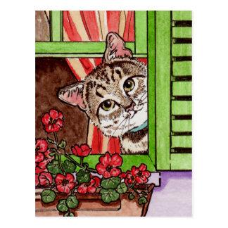 Gato de Bonjour Tarjetas Postales