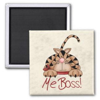 Gato de Boss Imán Cuadrado