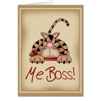 Gato de Boss Tarjeta De Felicitación