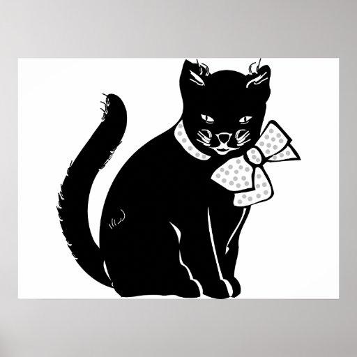 Gato de Bowtie Impresiones