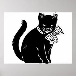 Gato de Bowtie Póster