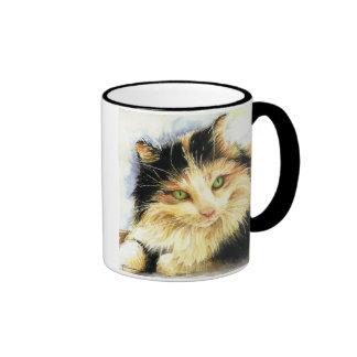 Gato de calicó 0010 taza de dos colores