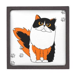 Gato de calicó caja de recuerdo de calidad