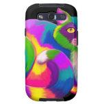 Gato de calicó colorido galaxy SIII protector