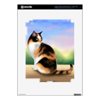 Gato de calicó en la piel de Zazzle de la puesta Pegatinas Skins Para iPad 3