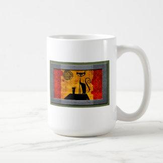 Gato de casa taza de café