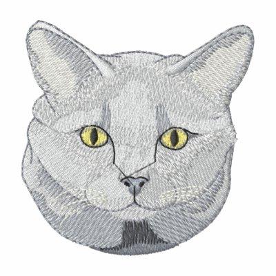 Gato de Chartreux Sudadera Bordada
