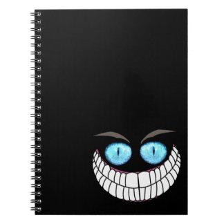 Gato de Cheshire - cuaderno de los ojos azules